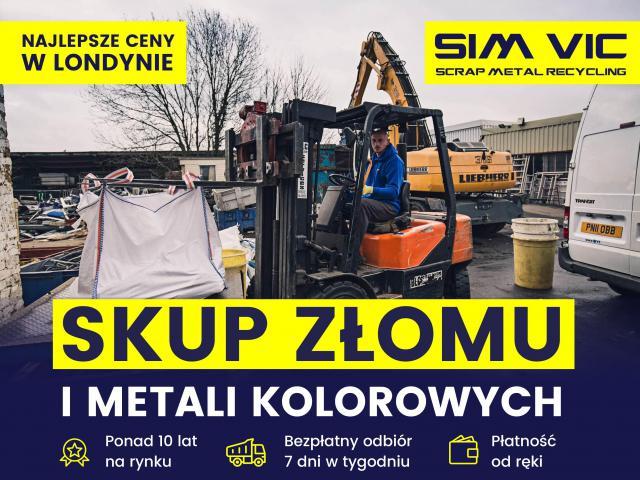 SIMVIC-NAJSTARSZY SKUP KABLI ORAZ INNYCH METALI KOLOROWY W LONDYNIE - 1/1