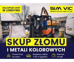 SIMVIC-NAJSTARSZY SKUP KABLI ORAZ INNYCH METALI KOLOROWY W LONDYNIE