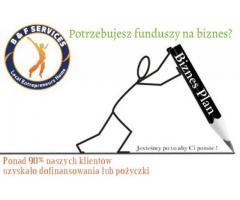 Biznes Plan - 20% zniżki - pomoc przy uzyskaniu finansowania