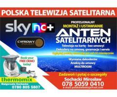 Profesjonalny montaz i ustawienie anten satelitarnych. Przy zakupie dekoderow 1
