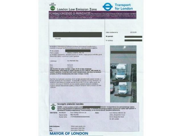 Anulowanie mandatów TfL LEZ, Rejestracja pojazdów w LEZ, ULEZ , Euro Parking Collection kkkkkkk - 1/3