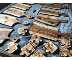 Drewniane solidne deski do krojenia oraz podstawki - Grafika 1/10