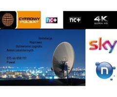 Naprawa, Montaz, Ustawianie Sygnału Anten Satelitarnych