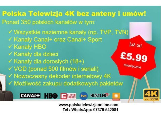 Polska Telewizja bez anteny w UK - 1/2