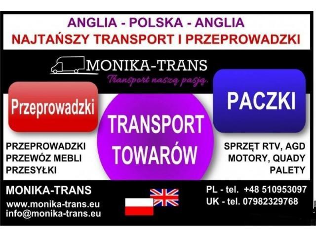 Przeprowadzki UK-Polska, transport paczek, AGD, RTV, palet. - 1/3