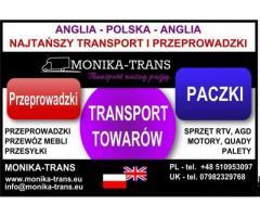Przeprowadzki UK-Polska, transport paczek, AGD, RTV, palet. - Grafika 1/3