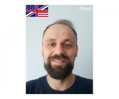 Korepetycje, lekcje on-line, język angielski przez Skype £15/h