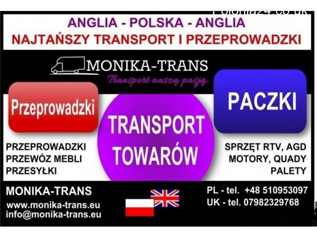 Przeprowadzki UK-Polska, transport paczek, AGD, RTV, palet. - 1/5