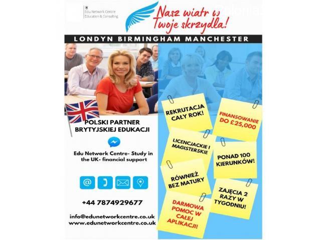 Studia w Anglii- dofinansowania, darmowa pomoc, aplikacja. - 1/1