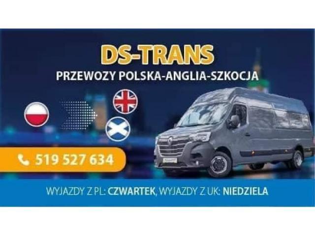 DS-TRANS TRANSPORT POLSKA-ANGLIA PRZEWÓZ PACZEK,PRZEPROWADZKI,PALETY,MOTORY ITP - 1/5