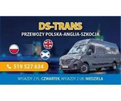 DS-TRANS TRANSPORT POLSKA-ANGLIA PRZEWÓZ PACZEK,PRZEPROWADZKI,PALETY,MOTORY ITP - Grafika 1/5