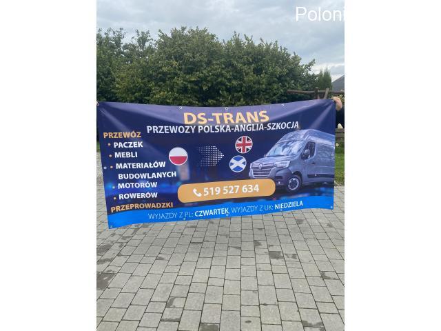 DS-TRANS TRANSPORT POLSKA-ANGLIA PRZEWÓZ PACZEK,PRZEPROWADZKI,PALETY,MOTORY ITP - 5/5