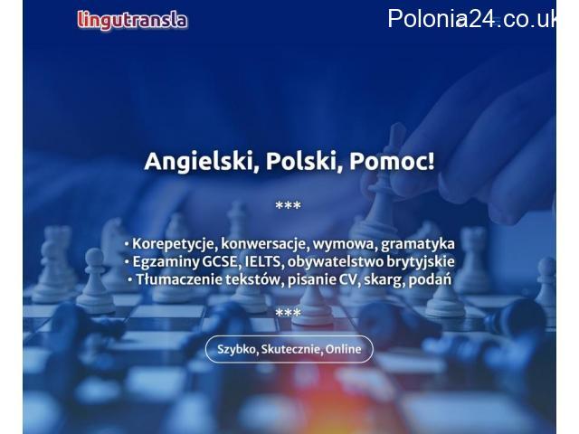 Angielski-Polski Pomoc, Korepetycje, Tłumaczenia, Pisanie CV - 1/1